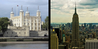 The Tower of London is older than the Empire State Building.